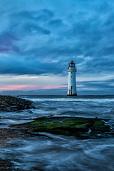 River Mersey........ (gmorriswk) Tags: merseyside england unitedkingdom gb new brighton river mersey sea stormy lighthouse fort perch rock long exposure sunset