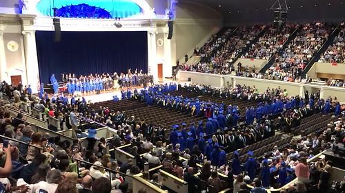 time lapse of high school graduation