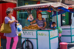 Myra and her chicken stall. (Beegee49) Tags: street people filipina chicken joy selling luminar sony a6000 happy planet bacolod city philippines asia