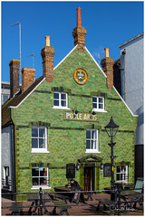 Pub on the Quay (clive_metcalfe) Tags: pub building publichouse poolequay poole dorset uk dock lampost tiles green chimney