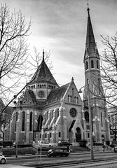 Budapest in black and white (PhotoFreakx) Tags: design art history religion streetphotography street city urban bridgecamera lumix bw blackandwhite budapest architecture gothic cathedral church