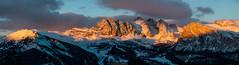 Breathtaking (Nicola Pezzoli) Tags: italy italia val gardena dolomiti dolomites mountain winter alto adige snow neve nature natura bolzano sunset seceda odles clouds