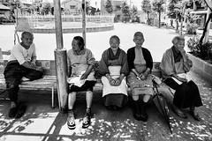 Have a nice day. 659 (soyokazeojisan) Tags: japan osaka city park people bw blackandwhite monochrome analog olympus m1 om1 21mm film trix kodak memories 1970s