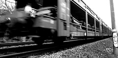 Face to face ! - My hometown ! Oldenburg, Lower Saxony ( Niedersachsen ), Germany (tusuwe.groeber) Tags: street strase shot photographing aufnahme ablichtung oldenburg sony nex7 lowersaxony niedersachsen germany sw bw schwarz weis black white blanco negro eisenbahn bahn gleise gleisanlagen signale railroad railway tracks railwaytracks signals lok lokomotive facetoface