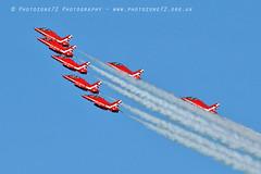 9911 7 ship arrival loop R1 R2 R3 R5 R6 R7 R9 (photozone72) Tags: raf rafat redarrows reds redwhiteblue aviation aircraft jets hawk canon canon100400f4556lii canon7dmk2 7dmk2 scampton lincolnshire