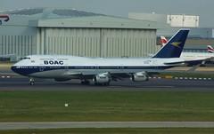 British Airways B747-436 (G-BYGC) (kjxphotography) Tags: planespotter planespotting avgeek aircraft airplane airliners retrolivery boaclivery britishairways boeing boeing747 b747400 b747436 londonheathrow lhr egll gbygc