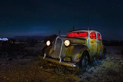 Sailing Along 1937 Plymouth (Fabdub) Tags: texas plymouth car auto lightpainting nightshot night poselongue longexposure abandoned desert leicaq leica
