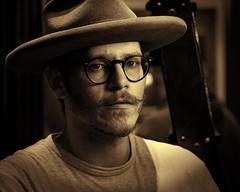 Dakota 022719 (TNrick) Tags: man portrait monochrome sepia lasvegas nevada goorinbros hat