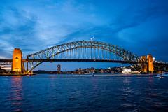 Sydney Harbour Bridge (Thanathip Moolvong) Tags: sydney newsouthwales australia au bridge harbour blue sea water reflection light illuminated