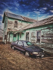 gimme shelter... (BillsExplorations) Tags: abandoned abandonedillinois abandonedcar decay ruraldecay forgotten old abandonedhouse farm pontiac gimmeshelter vintage farmhouse grandam