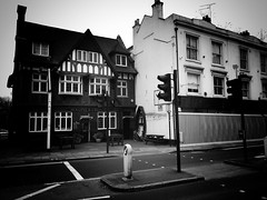 Magpie & Crown Pub, Brentford (dominicirons) Tags: brentford westlondon pub magpiecrown redevelopment blackwhite blackandwhite