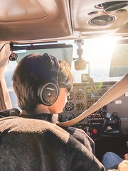 Fly boy (kristinseneker) Tags: 172 cockpit plane flying bose boy pilot cessna