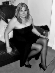 Sultry (HerandMe2019...Please Read Profile) Tags: woman women wife female people mature older glamorous glamour granny portrait pose photography beautiful beauty blonde dress blackandwhite classy amateur