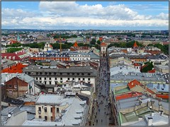 Kraków (Poland)-Cracovia (Polonia) (sky_hlv) Tags: torre tower mirador observationtower basílicadesantamaría stmarysbasilica basílica iglesia church templo cracovia kraków krakow poland polonia europe europa skyline panoramicview panorámica panoramic hejnalica