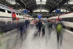 train station Lucerne (Toni_V) Tags: iphoneography iphone xr apple mobilephone motion blur movement station bahnhof lucerne luzern switzerland schweiz suisse svizzera svizra europe perspective sbb cff ffs train ©toniv 2019 190406 myswitzerland