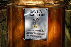 Save a ciagarette! (Johann (Still Me!)) Tags: cigarette saveacigarette sign johanndejager ef70300mmf456isusm canoneos5dmarkiv