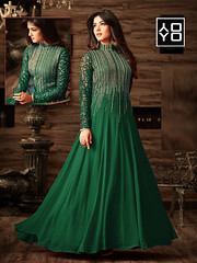 Exclusive Green Party Wear Anarkali Salwar Suit#YOYOFashion Online Shopping. (yoyo_fashion) Tags: fashion style wedding shopping designer stylist shoppingonline indianwedding womenfashion ethnic indianfashion offer indianwear ethnicwear bridalwear designerwear