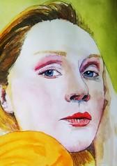 Gwendoline Christie (Utopist) Tags: watercolour watercolor portrait women gwendoline christie game thrones
