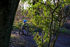 Hamish on his bike (timnutt) Tags: woodland xt2 conishead coastline priory coastal fuji cumbria coast 35mm fujifilm 35f2wr