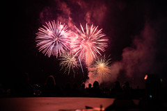 Fireworks Airshow 2018 #4 (eacmich) Tags: fireworks celebration show finale abbotsford airshow twilight bright pink red canada canon 6d 24105mm longexposure blackbackground peoplewatching night evening nighttime nightshot nightshow