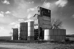 Grain Elevator - Matheson, CO (Christopher J May) Tags: grainelevator matheson colorado co building abandoned bnw blackandwhite monochrome rural plains agriculture nikond800 tamronsp2040mmf2735