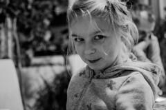 The plotting look I (Vagabundina) Tags: people person personality children child kid girl blackandwhite perspective look eyes face moment atmosphere nikon nikond5300 dsrl 35mm