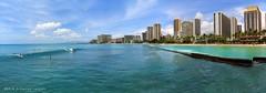 Waikiki Beach, Honolulu, Oahu, Hawaii, USA (Black Diamond Images) Tags: waikikibeach honolulu oahu usa waikiki beach hawaii usabeaches hawaiianbeaches hawaianbeaches westernusatrip2018 2018 canond60 sigma1770 1770 panorama msice msicepanorama microsofticepanorama sky seascape landscape beachlandscapes sea seascapes