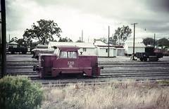 X201 at Tocumwal (oz_lightning) Tags: agfact18 australia canonpixmamg8150 filmscan building film railways scan shunter slide trains tocumwal newsouthwales aus halinasuper35x 35mmfilmcamera