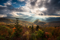 Blue Ridge Mountains Asheville NC Scenic Autumn Landscape Photography (Dave Allen Photography) Tags: landscape outdoors autumn mountains nc northcarolina fall foliage scenic blueridgeparkway asheville nature scenery appalachians rays light nikon d810 valley lightrays sunbeams fallfoliage