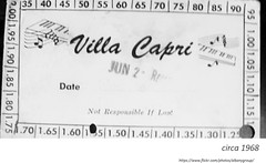 circa 1968   Villa Capri bar  (central ave.) ticket (albany group archive) Tags: 1960s old albany ny vintage photos picture photo photograph history historic historical night club bar