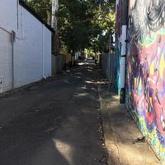Light and shadow play on lanes in Glebe, Sydney - #lightandshadowplayonlanes #light #shadow #lane #Sydney #Glebe #urbanstreet #urbanfragments #urbanandstreet #streetphotography #mural #graffiti #garbagebins #treeoverpath (TenguTech) Tags: ifttt instagram lightandshadowplayonlanes light shadow lane sydney glebe urbanstreet urbanfragments urbanandstreet streetphotography garbagebins treeoverpath mural graffiti