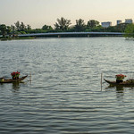 Decorated Boats on Crescent Lake in Ho Chi Minh City thumbnail