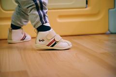 DSCF1056 (Brian HCH) Tags: xt1 fujifilm brianhuang 小黃金 寶寶 寶貝兒子 baby dd golden 鞋子 亞瑟士 asics suku2 first