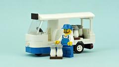 Milk Float (de-marco) Tags: lego city town car vehicle truck milkfloat 3wheels