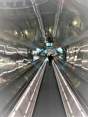 Paris CDG Portal Madness (roomman) Tags: 2019 france contrast style art design strange bad good controversial controversal cdg air airtravel travel aviation airline terminal airport building 1960 19602 1970 1970s 60 70 60s 70s stair stairs moving people walk walkway up down criss cross charles de gaulle roissy paul andreu paulandreu t1 terminal1 lfpg