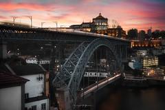 Sunrise at Porto (Greg Delaville Photography) Tags: longexposure city landscape cityscape dri pontdomluis lighttrails sunrise nisifilters lightroomcc photoshopcc 2470f28 canon5dmarkiv canon ponteluis1 douro porto portugal europe
