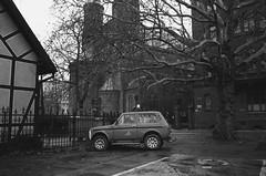 Nadodrze (Akysz!) Tags: analog traditional blac blackandwhite bw bwlovers wroclaw architecture city oldstyle olympus om1n walk suburbs walls car lada ladaniva