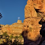 The Moon Was Teed Off Over a Rise in the Distance (Capitol Reef National Park) thumbnail
