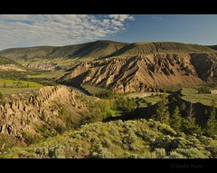 Farwell Canyon (Gordon Hunter) Tags: nature landscape outdoor outside rugged country rural morning summer hills view canada gordon hunter nikon d5000