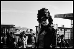 Carnival Venice (riccardo.giavoni) Tags: girl woman carnival carnevale streetphotography bw bnw biancoenero blackandwhite italy venice canon