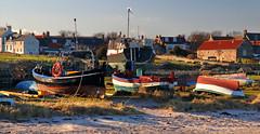 Holy Island (PJ Swan) Tags: lindisfarne holy island great britain england beach boats