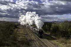 35018 1Z68 Brentingby 17.03.19. (Captainkez) Tags: red merchant navy steam train locomotive 35018 british india line southern region derbyshire wcrc west coast railway company
