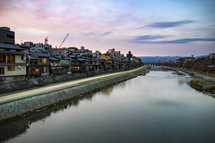 Kamo River (Synghan) Tags: kamogawariver kamoriver japan japanese kyoto river kamogawa kamo reflection flowing house houses architecture photography horizontal outdoor colourimage fragility freshness nopeople foregroundfocus adjustment interesting awe sky twilight afternoon evening landscape scenic scenery beautiful wonder travel destination attraction landmark local region regional dock bank canon eos80d 80d sigma 1750mm f28 가모가와 가모 강 교토 풍경