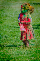 Holi Festival of Love, Frolic, and Colors (Greatest Paka Photography) Tags: holifestival festivalofcolors hindu festival celebration fostercity color gulal child powder spring grass