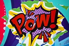Pow! (Gerard Hermand) Tags: 1903187514 gerardhermand france paris canon eos5dmarkii streetart jodibona paint paper papier spray torn peinture bombe dechire detail