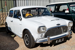 1967 Chopped Austin Cooper S Mini 4ALU Brooklands Mini Day March 2019 (davidseall) Tags: 1967 chopped sprint austin cooper s mini 4alu 4 alu car old shape style classic original brooklands day march 2019 weybridge surrey uk