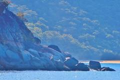 rock & beach - Cairns Coast, Queensland Australia (jeffglobalwanderer) Tags: beach hiddenbeach headland rocks boulder boulders coastline cairns queensland australia water ocean bushland nature