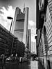 Frankfurt, Skyscraper View (rgiw) Tags: deutschland city street olympusomdem1 blackwhite bw schwarzweiss sw colour farbe stadt monochrome skyscraper wolkenkratzer strasse building gebäude hessen frankfurt blackandwhite bauwerk architektur architecture olympusmzuiko714mm