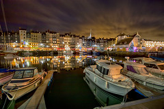 "moody night interpretation of reflected festive lights and underlie clouds, Vieux Bassin (Old Harbour), Honfleur, Calvados, Normandie, France (grumpybaldprof) Tags: honfleur normandy normandie calvados france ""vieuxbassin"" ""oldharbour"" quai ""stecatherine"" ""lalieutenance"" quarantaine water boats sails ships harbour historic old ancient monument picturesque restaurants bars town port colour lights reflection architecture buildings mooring sailing stone yachts reflections ""waterreflections ""wetreflections"" ""eglisesaintecatherine"" yacht voillier waterfront wetreflections ""fineart"" striking artistic interpretation impressionist stylistic style contrast shadow bright dark black white illuminated mood moody atmosphere atmospheric colours colourful ""wideangle"" ultrawide ""longexposure"" night nocturne nighttime ""lowlight"" festivelights nightlights"