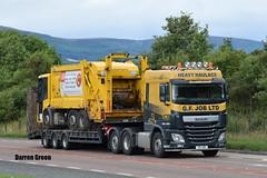 G. F. JOB LTD DAF XF 510 SPACE CAB G4 JOB (Darren (Denzil) Green) Tags: kelsalightbar gfjob gfjobheavyhaulage cromartybridge a9 binlorry highlandcouncil lowloaderhire kingtrailer job g4job heavyhaulage trailer transport daftrucks daf dafxf